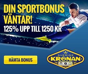 Sverigekronan sport bonus